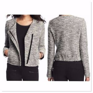 Soft tweed fitted jacket from Loft